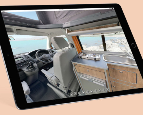 Virtual tours for vehicles